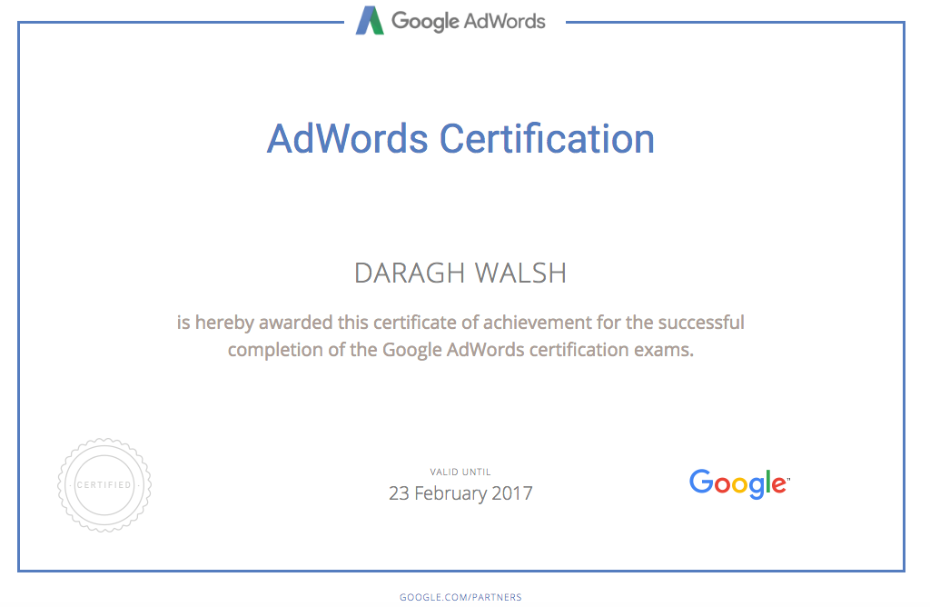 google adwords certification tips to get certified in 2 days